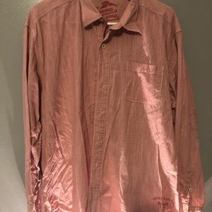 Tommy Bahama Rust Red  Button Down Size XL